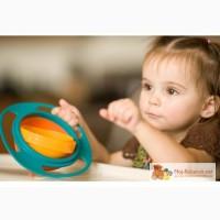 Тарелка для детей Gyro Baby Bowl. Непроливайка-нерассыпайка .