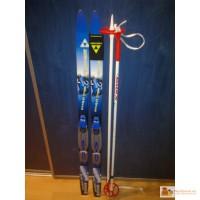 Лыжи fischer snowstar + крепления xc junior 110см
