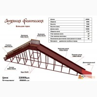Горка деревянная заливеая для парков Наша Мама в Подольске