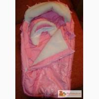 Продам конверт для новорожденного (девочки) зимний