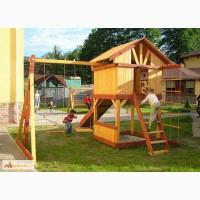 Детские игровые комплексы из дерева ООО Родной дом Горка качели в Санкт-Петербурге