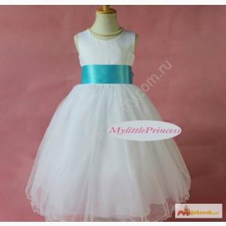 Детское платье белое бальное LP-1309BL2 в Горно-Алтайске