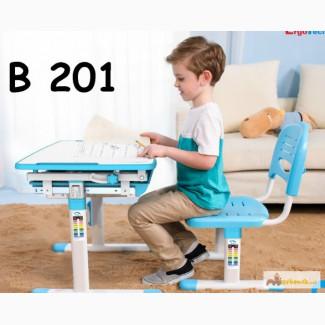 Детские растущие парты-трансформеры ErgoTech B201 голубая в Москве