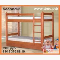 Second 2 Двухъярусная кровать для взрослых и подростков из массива сосны