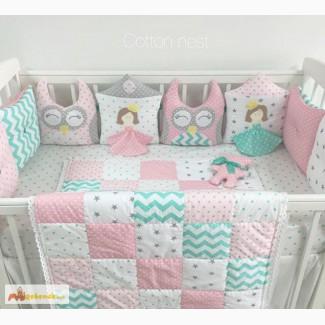 Бортики-подушки в кроватку, одеяла в России