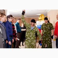Поздравление с 23 февраля в офисе Красноярск