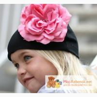 Шапка с цветком Gigis apparel Черная с розой в Краснодаре