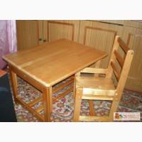 Cтол и стул детский деревянный в Новокузнецке