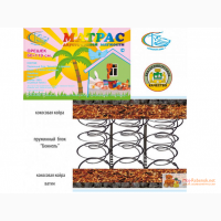 Детский матрас ортопедический 2-сторонний кокос Орешек