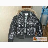 Продам детский кожанный зимний пуховик