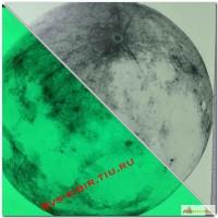 Светящаяся в темноте наклейка Луна
