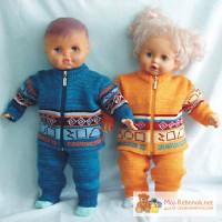 Вязанная детская одежда для наших самых самых...Детский костюм Лилу