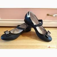 Черные кожаные школьные туфли 34 в Москве