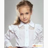Белые блузы для девочек школа р.122-152 Valeri (Mevis) в Ростове-на-Дону