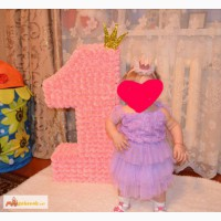 Объемная единичка для принцессы в Белово
