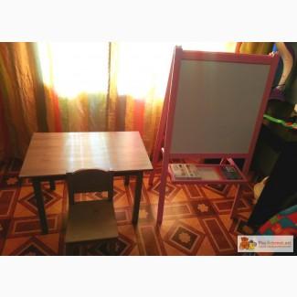 Столик, стульчик + Доска-мольберт Ikea в Новосибирске