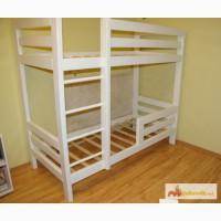 Удобная двухъярусная кровать из массива сосны