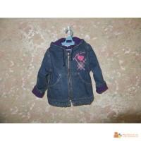 Куртка джинсовая «Gloria Jeans» на флисе в хорошем состоянии на рост 104-116