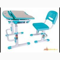Растущий стол+стул голубой комплект Фанки Деск