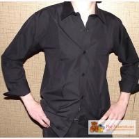 Новая черная рубашка для мальчика 9-11 лет 140 см