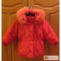Красивая зимняя куртка для девочки 4-5 лет