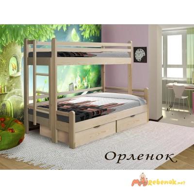 Фото 2. Двухъярусные детские кровати из дерева купить в Москве
