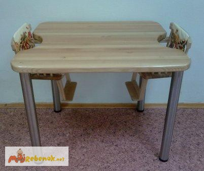 Фото 2. Деревянные столы для кормления двух детей в домах ребенка, Москва
