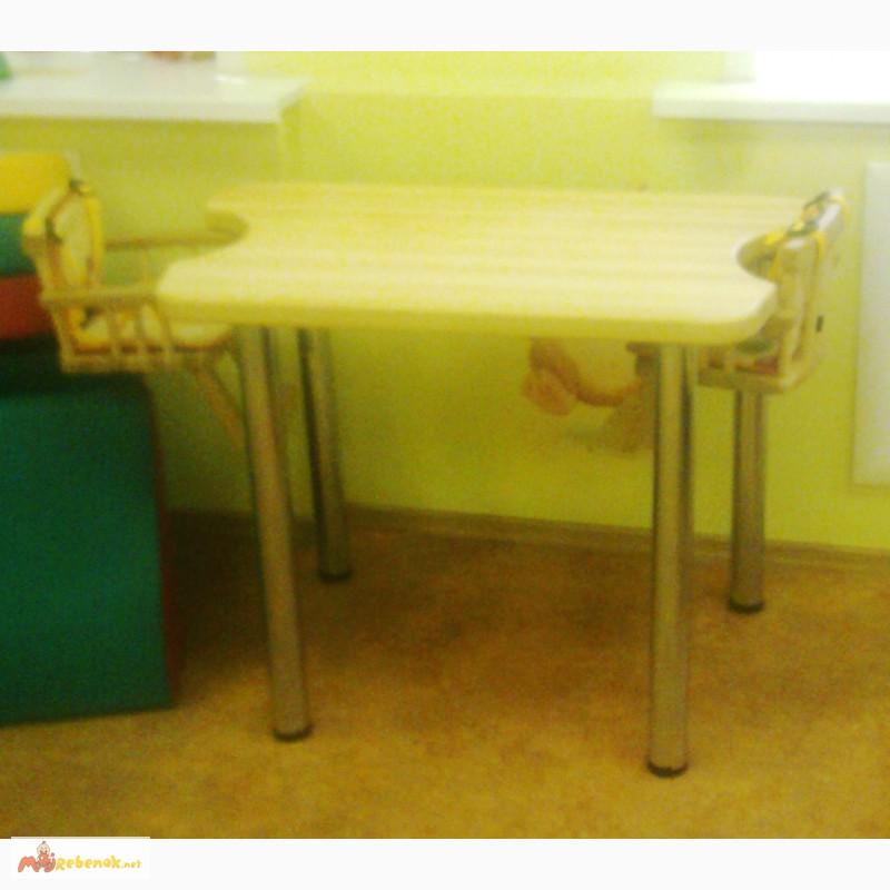 Фото 4. Деревянные столы для кормления двух детей в домах ребенка, Москва