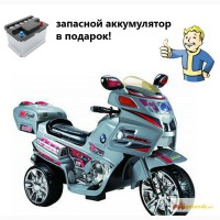 Детский электромотоцикл (серебристый) в Краснодаре