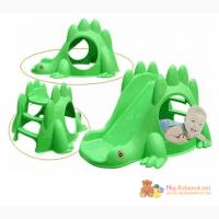 Детская пластиковая горка Marian Plast Динозавр