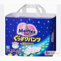 Ночные трусики Merries 12-22 кг 21шт.уп