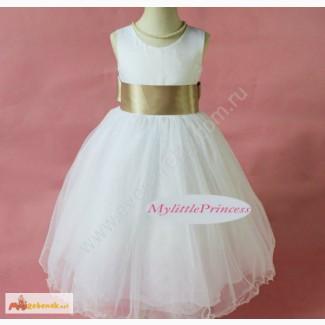Детское платье с бежевым поясом LP-1309BG2 в Сыктывкаре