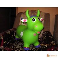 Детские игрушки резиновые прыгуны корова, барашек и зебра со звуком
