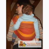 Продам слинг-шарф didymos красно-оранжевые полосы
