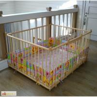 Манеж деревянный детский 1, 2х1, 5м